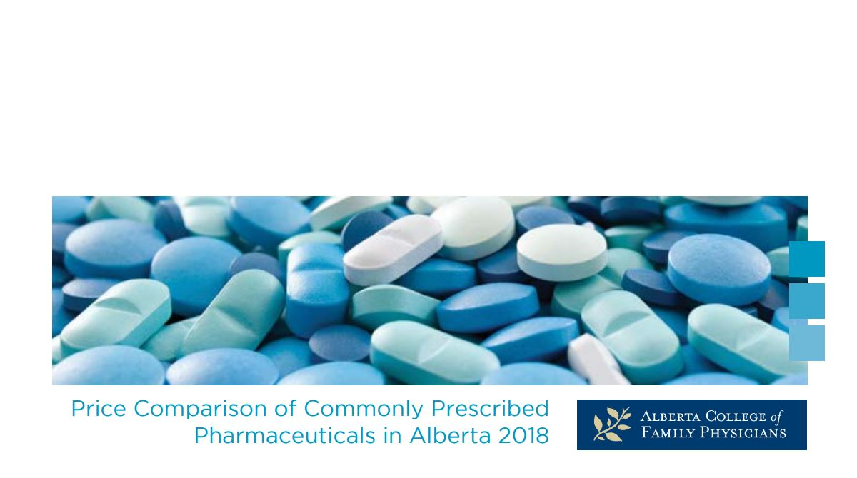 2018 Price Comparison of Commonly Prescribed Drugs Guide - Revision