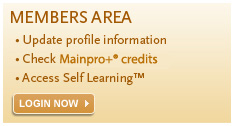 Log into your CFPC member profile